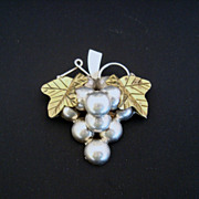 SALE Vintage Mexico 925 Grape Cluster Pendant/Pin