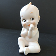 Lefton China Kewpie Blue Wings