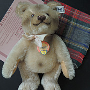 Steiff Jackie Teddy Bear With Ear Button & Chest Tag