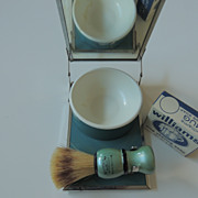 Shaving Kit with Mirror-Brush-Soap Cup