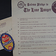 Lone Ranger 1938 Safety Club Merita Bread