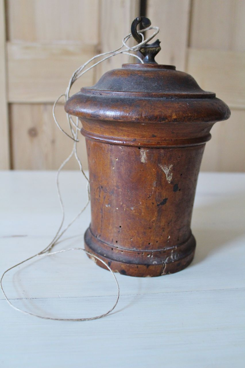 19th Century French Wood String Holder
