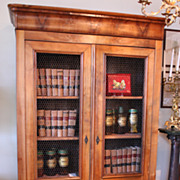 SOLD 19th Century Louis Philippe Cherry Bibliotheque/Armoire