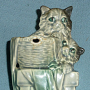 McCoy Art Pottery Kittens Planter/Vase  - ca. 1940's-50's