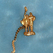 B.P.O.Elks Grand Reunion Portland, Oregon Watch Fob & Chain - ca. 1912