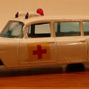 Matchbox #54b - S&S Cadillac Ambulance - ca. 1965-69