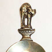 Peerage Brass Manx Cat Tea Caddy Spoon - ca. 1940's-50's
