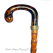 Tortoise shell cane walking stick bamboo