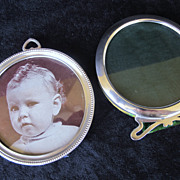SOLD 2 Art Nouveau and Art Deco Sterling Picture Frames
