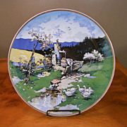 Antique VILLEROY & BOCH Mettlach Artist Signed REILS 17&quot; Wall Charger
