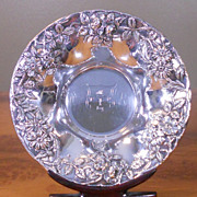 SOLD S. Kirk & Son Sterling Silver Repousse Bowl 1894 PERSHING RIFLE Crest