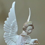 Vintage LLadro Figurine ANGEL OF PEACE 12&quot; Retired Salvador Debn 1994 - 2002