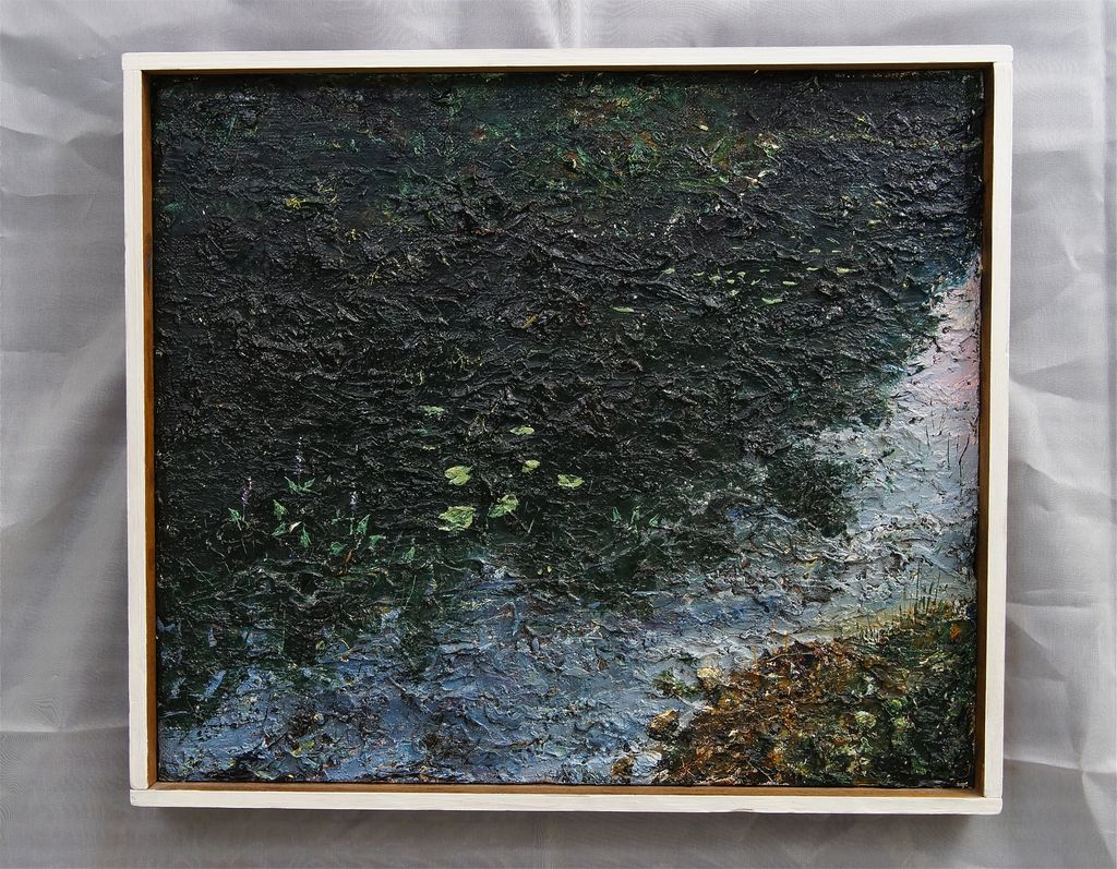Michigan Impressionistic Oil Painting  Gerald C. Moore 1970's
