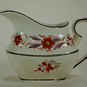 Pearlware Creamer with Lovely Floral Decoration 1820s