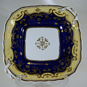 English Porcelain Square Shaped Dessert Dish