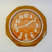 Vintage German Ceramic Wall Clock from Junghans