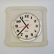 Vintage Ceramic Wall Clock from Europa Made in Germany