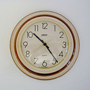 Vintage Ceramic Wall Clock from German Peter Made in Germany