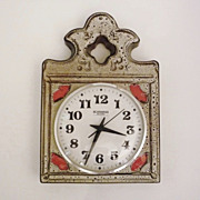 Vintage German Ceramic Wall Clock from Blessing