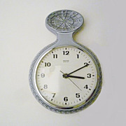 Vintage German Ceramic Wall Clock from Mauthe