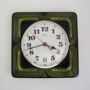 Vintage German Ceramic Wall Clock from Schatz Made in Germany