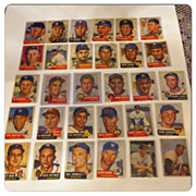 SOLD 35 Tops 1953 Sport Cards Mickey Mantle, Jackie Robinson, Yogi Berra