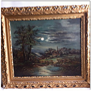 SALE Antique Oil Painting & Frame 1883 BEAUTIFUL artist unknown