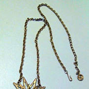 Incredible Vintage Goldtoned Lisner Dangling Starburst Pendant Necklace