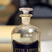 "SALE 10"" Apothecary Jar - Aether Acetic Label"