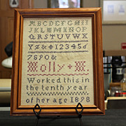 1898 Framed Cross-Stitch Sampler