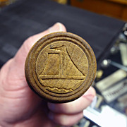 Primitive Sailboat Butter Pat Mold