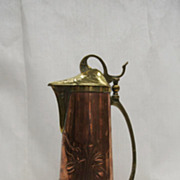 Gorgeous Art Nouveau tankard, Keswick school, England, copper & brass