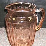 Pink Mayfair 80 oz  water pitcher