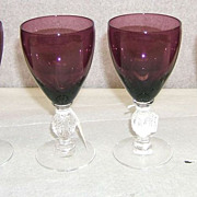 Cambridge Aurora 4 oz wine goblets, set of 4