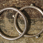 Set of 2 Vintage Sterling Silver Bangles, elegant bracelets