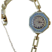 Antique Enamel Ladies Wristwatch