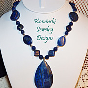 Lapis & Sterling Silver Necklace