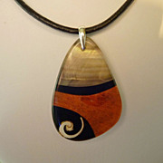 Everlasting Luhuanus Shell on Black Leather Cord with Sterling