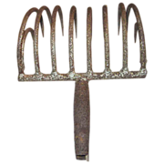 Clam Rake Hand-forged Iron Eastern Long Island