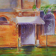 "Italy Venice canal painting on paper 11""x15"" by contemporary artist Monica Fallini"