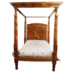 Poster Bed  American c. 1840 Burl Maple