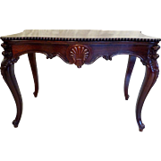 Rococo Center Table  in Rosewood  American c. 1860