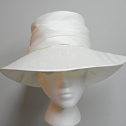 SOLD Super Chic 70s Vintage Wide Brim Silk Hat