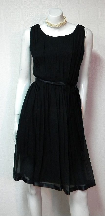 Sheer Elegance 1960s Vintage Silk Chiffon Dress