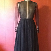 SALE Pauline Trigere Designer 1950s Lace amazing dress Circle Gown