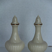 SOLD Lenox Ivory Colored Salt & Pepper Set