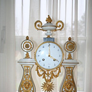 REDUCED French Louis Seize Mantel Clock  , 18th C