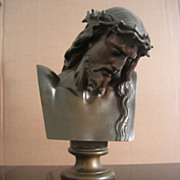 SOLD Christ bronze Bust by Clesinger and Barbedienne Late 19TH Century