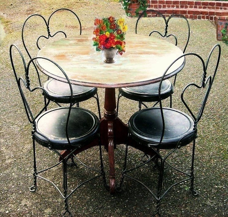 vintage early 1900 39 s bistro set french country cafe terrace pub from
