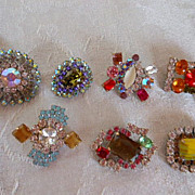 SOLD Czech Glass Rhinestone Buttons